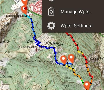 Navigations-App zum Wandern